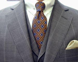 クラシコ・3ピース・ウィンドウペン(windowpane)・春の洋服まつり