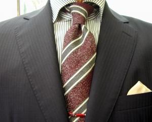 クラシコ・濃紺2ピース Superfine Merino Wool SCABAL・秋の洋服まつり