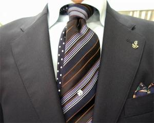 濃紺ブレザー&グレンチェックパンツ