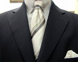 ブリティッシュ3釦・濃紺モヘア・2ピース