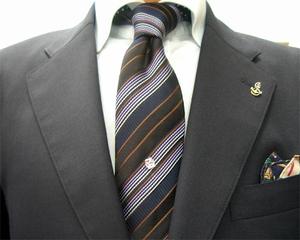 濃紺ブレザー&グレイパンツ