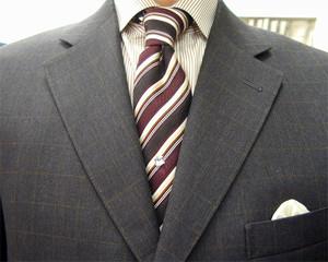 ブリティッシュ・2ピース・ウィンドウペン(windowpane) 職人一人縫い