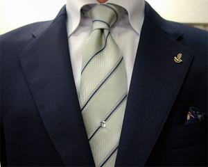 濃紺ブレザー&グレンチェック・パンツ
