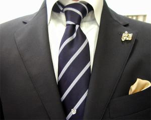 濃紺ブレザー&グレンチェック・パンツ(秋の洋服まつり)