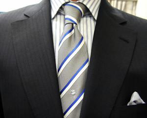 ブリティッシュ2釦・濃紺モヘア・2ピース