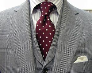 グレンチェック・3ピース/クラシコ・春の洋服まつり初日