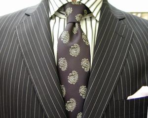 クラシコ・2ピース・濃紺ペンシルストライプ・春の洋服まつり3日目