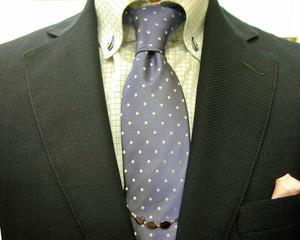 超軽量服地:SHALICK 濃紺ブレザー&グレイ・パンツ
