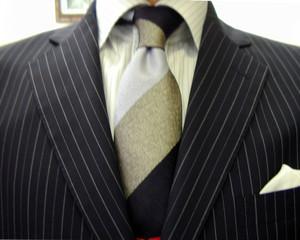 クラシコ・2ピース・濃紺ペンシルストライプ・長月・秋の洋服まつり