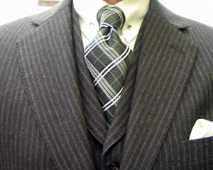 クラシコ・3ピース・軽量フラノ ピンホール(Shirt-pin)