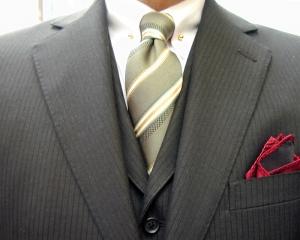 濃茶・ウーステッド・3ピース/クラシコ ピンホール(Shirt-pin)