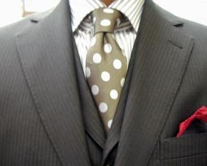 濃茶・ウーステッド・3ピース/クラシコ サスペンダー(suspenders)