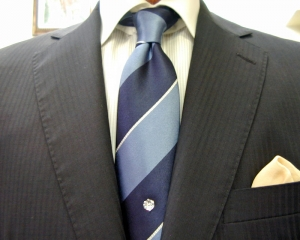 クラシコ・濃紺2ピース Superfine Merino Wool SCABAL